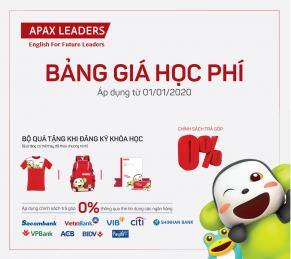 THÔNG BÁO BẢNG GIÁ HỌC PHÍ APAX LEADERS (Áp dụng từ ngày 01/01/2020)