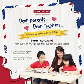 DEAR PARENTS, DEAR TEACHERS... Cảm ơn ba mẹ - những người thầy đầu tiên của con!