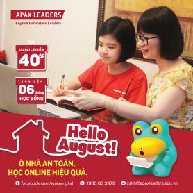Hello August! Ở nhà an toàn - Học online hiệu quả